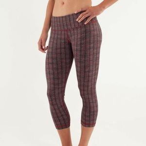 Lululemon 6 Wunder Under Crop Ziggy Wee Brown